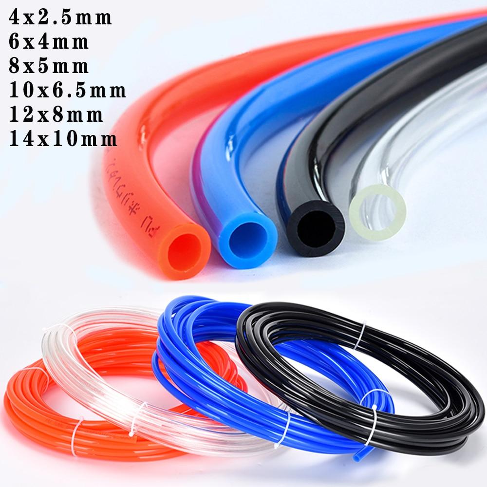 AliExpress - 1 meter PU pipe air compressor hose air pipe pneumatic components high pressure hose OD4x2.5mm 6x4mm 8x5mm 10×6.5mm 12×8 14x10mm