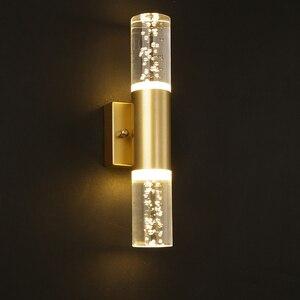 Bubble modern crystal wall lights European luxury modern minimalist living room bedroom bedside aisle TV wall lamp