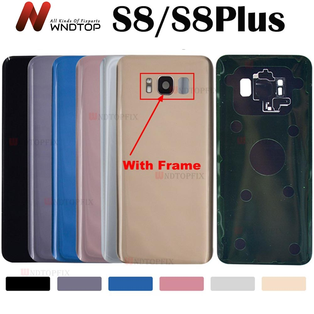 For Samsung Galaxy S8 G950F  Back Battery Cover Door Rear Glass Housing Case For Samsung S8 Plus G95