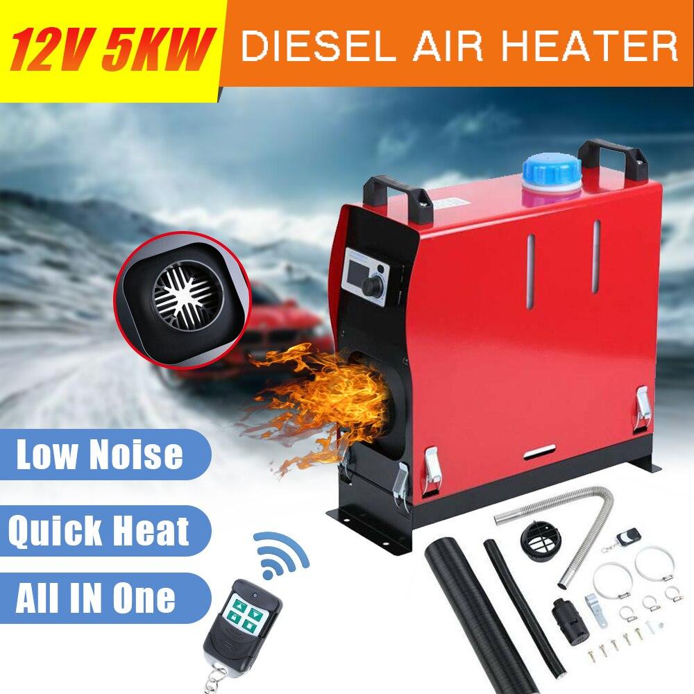 Einfrieren preise! 12V 5KW Diesel Luft Heizung Einzigen Loch Auto Heizung LCD Monitor Fernbedienung Für Wohnmobil Autos Lkw Boote Bus