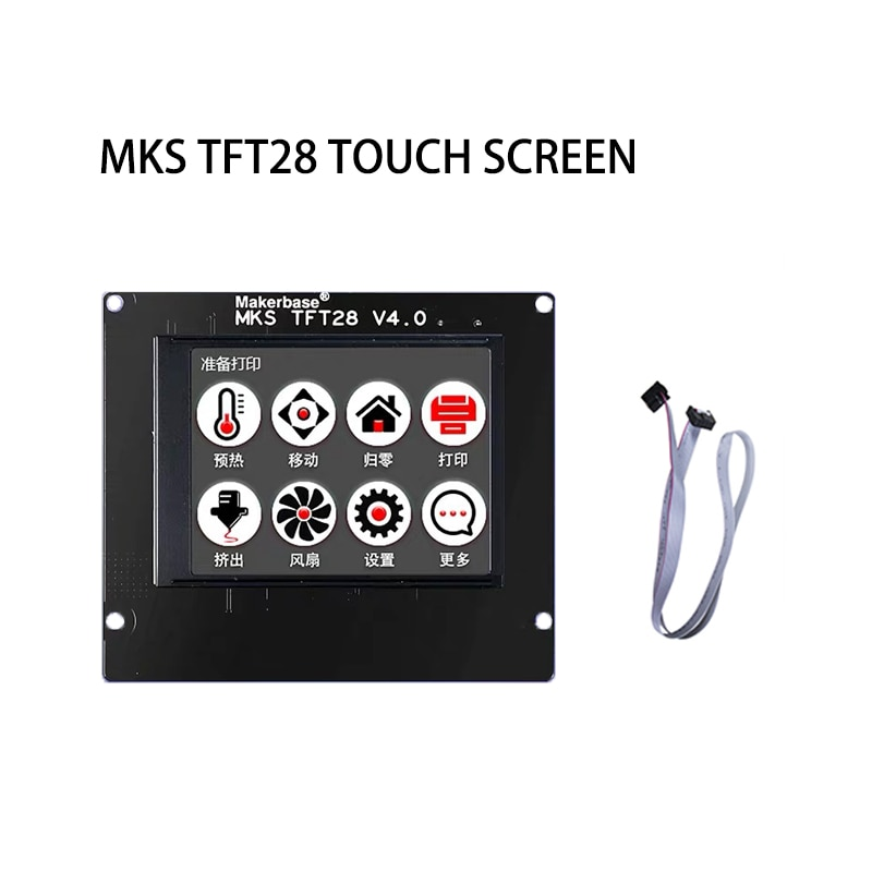 Pantalla de impresora 3D MKS TFT28 pantalla táctil por Makerbase 2,8 pulgadas panel LCD 2,8 TFT Pantalla de monitor pantalla colorida
