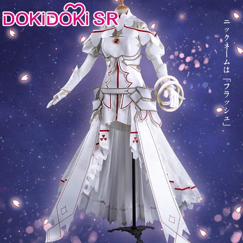 DokiDoki-SR אנימה חרב אמנות באינטרנט Yuuki Asuna קוספליי סאו נשים בנות שמלת תלבושות חרב אמנות באינטרנט קוספליי Asuna תלבושות משחק