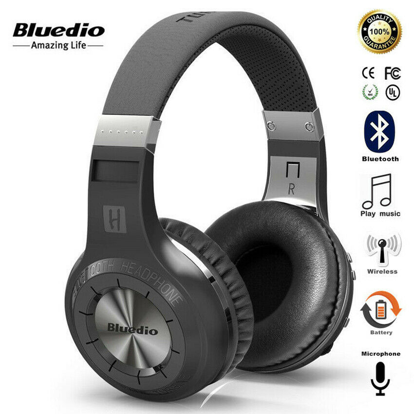 Bluedio HT Bluetooth Headphone Bluetooth Version 5.0 Wireless Headset with Micrphone for call