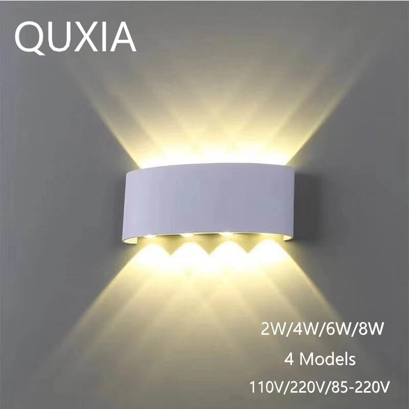 Nordic Wand Lampe Led Aluminium Outdoor Indoor Ip66 Up Down Weiß Schwarz Moderne Für Home Treppen Schlafzimmer Nacht Badezimmer Licht