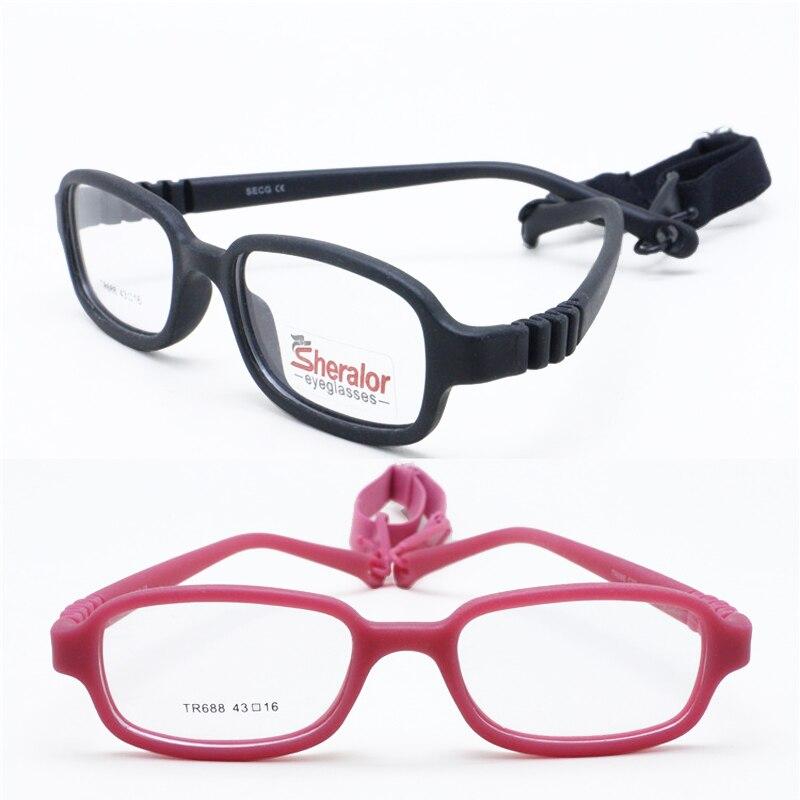 Venta al por menor, 688, marcos de gafas de seguridad flexibles para chico ambiental TR90 con correa ajustable, envío gratis