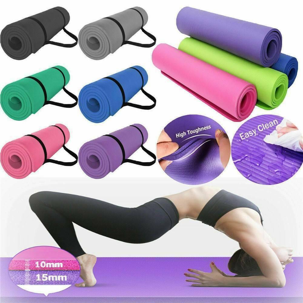 Alfombra de EVA para Yoga antideslizante de 60cm x 25cm x 1,5 cm, alfombra antideslizante para Pilates, gimnasio, deportes, almohadillas para hacer ejercicio para principiantes, esteras de gimnasia ambiental