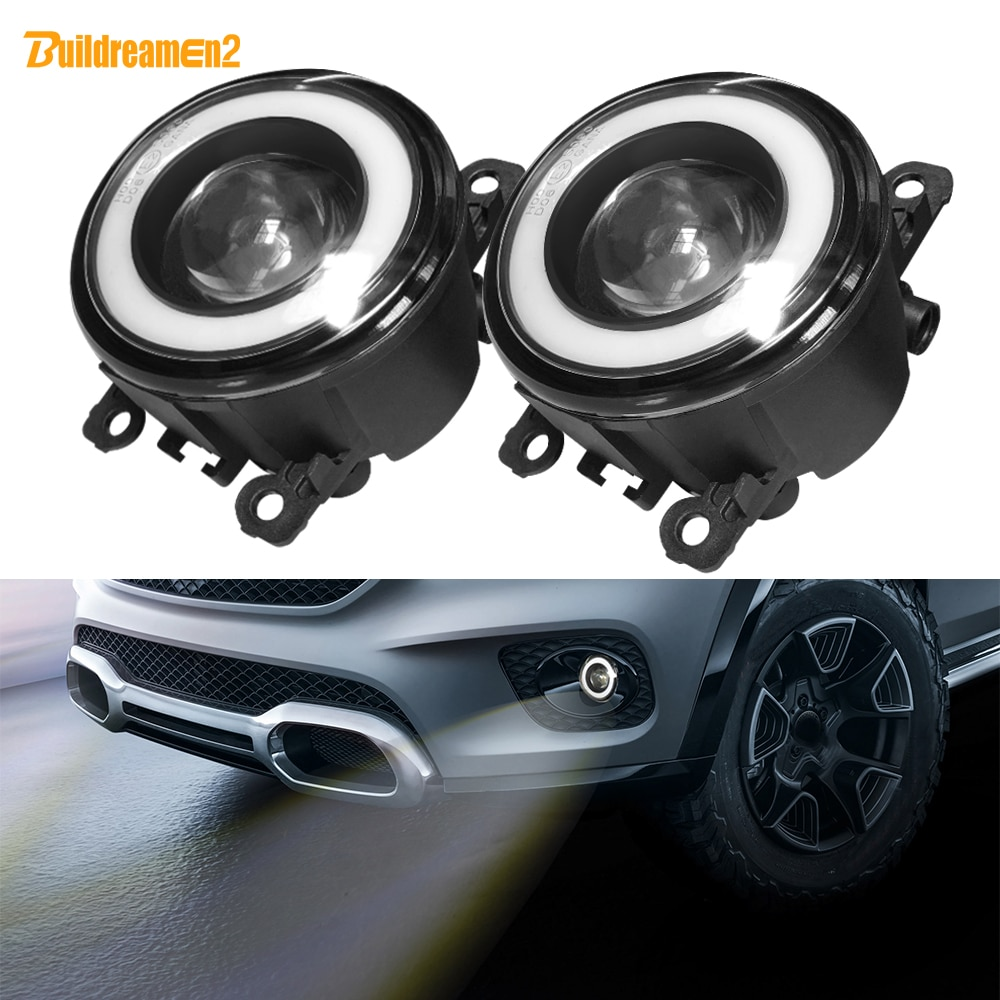 2 X Car Front LED Fog Light with Angel Eye Fog Lamp DRL For Citroen C1 C3 C4 C5 C6 DS3 DS4 DS5 Jumpy Xsara C-Crosser Berlingo