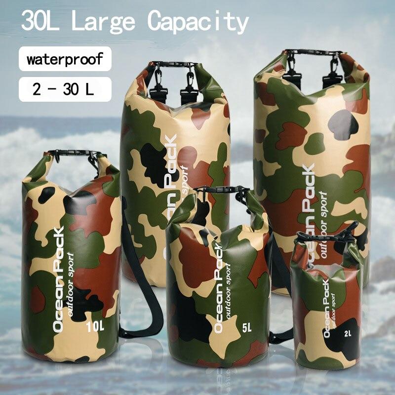2l 5l 10l 15l 20l 30l ao ar livre pvc à prova dwaterproof água saco de acampamento portátil rafting mergulho seco saco natação trekking sacos de armazenamento