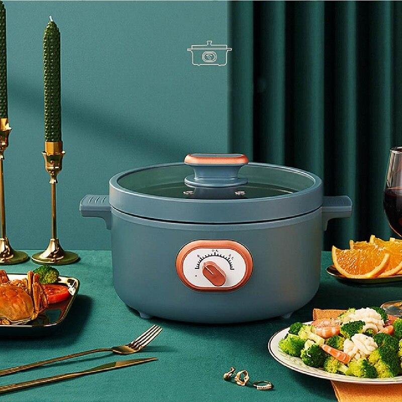 3L متعددة الوظائف الكهربائية مقلاة وعاء كهربائي الطبخ وعاء طالب المعكرونة الطبخ وعاء 2-5 أشخاص 220 فولت