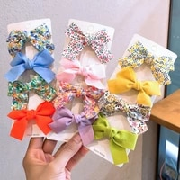 2 pcsset flower baby hair clips bows kids girl hair clip children hairpin haarspeldjes barrettes baby hair accessories oh2137
