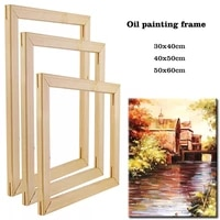 40x50cm wooden frame for canvas oil painting by numbers diy frame for photo inner frame for wall home decoration