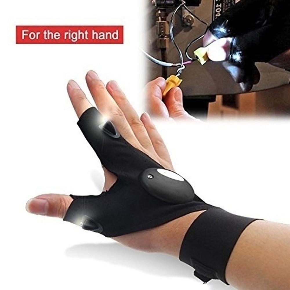 Fingerless Glove LED Flashlight Multipurpose Tool for opel astra volkswagen golf 7 ford vw golf 7 bmw e87 bmw e91 ford focus 2