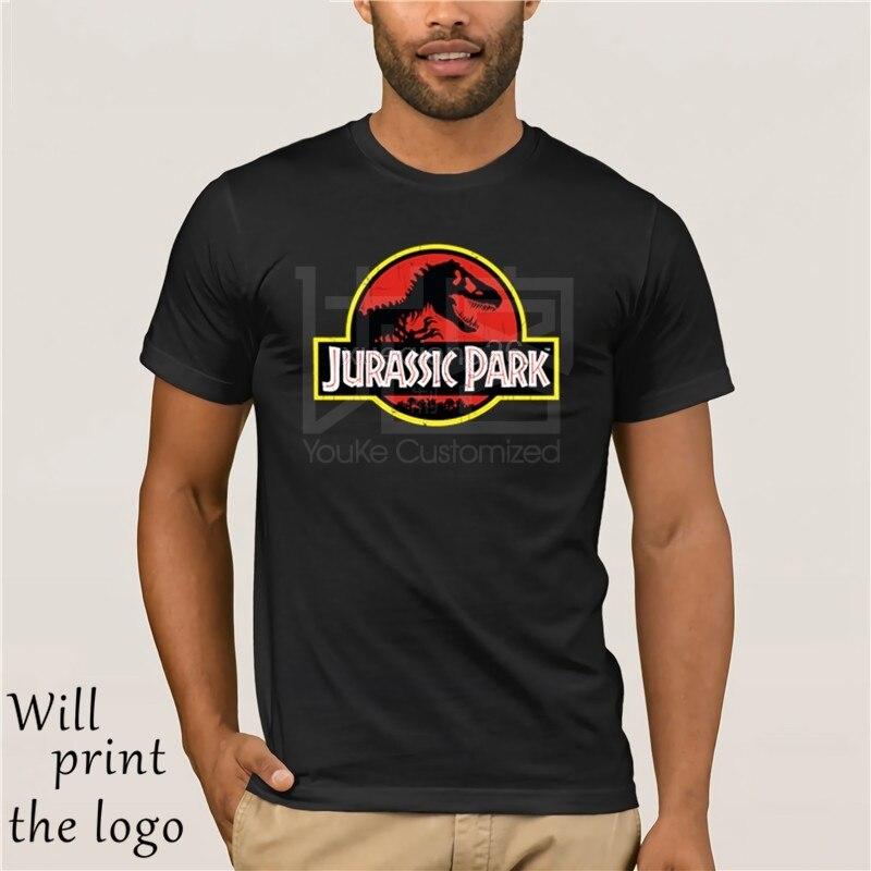 Magliette e camicette Magliette Jurassic Park camiseta Da Uomo dinosaurio Stampa T Camicette Nero Maglietta di bienes