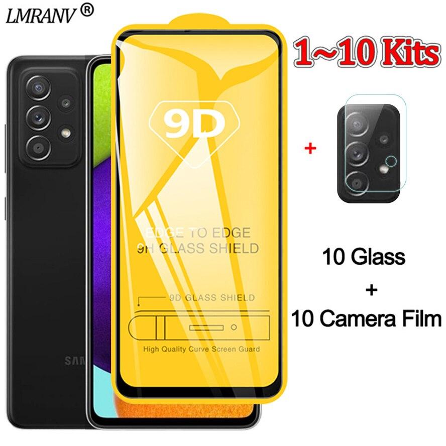 1~10 комплекты,самсунг а 72 пленка для камеры + защитное стекло Samsung A72 A52 закаленное стекло самсунг галакси а 72 стекло Galaxy a52 Samsung a-72 Glass samsung galaxy a52...
