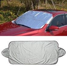 Protetor de gelo da neve do carro viseira sol sombra fornt traseiro pára-brisa capa block shields inverno viseira pára-brisas frente capa