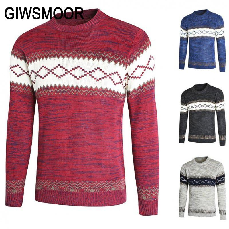 Fashion Mens Knitted Sweater Men 2020 Autumn Winter Casual Christmas Pullover Vintage Black Slim Fit Sweaters Male Outwear