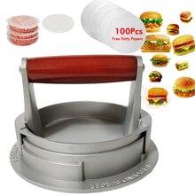 Presse à Hamburger en alliage daluminium   De haute qualité ronde, presse à Hamburger, viande boeuf Grill, presse à Hamburger, moule de cuisine, livraison directe