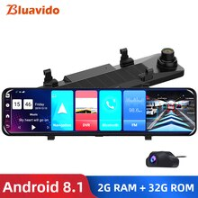 Bluavido Deutsch 12 zoll Auto Spiegel Android 8.1 dvr Dash Kamera 1080P dual kamera wifi GPS Navigation ADAS Fernbedienung auto video überwachung