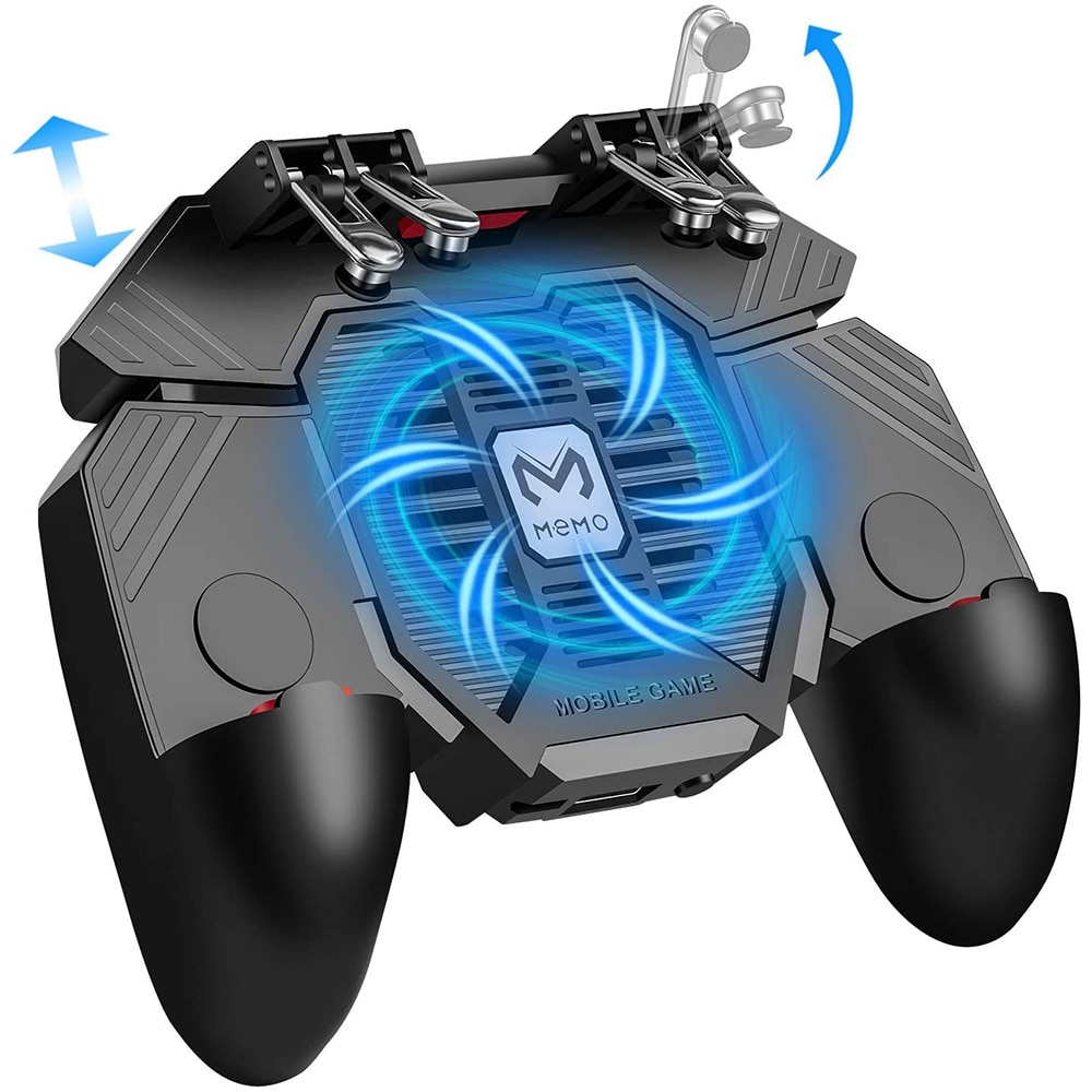 PUBG Controller AK77 Six Finger Gamepad For iPhone Android PUBG Mobile Controller L1 R1 Shooter Triggers Fire Joystick Game pad