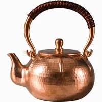 persimmon copper pot uncoated red copper boiling water kettle for electric ceramic stove teapot high end gift tea set