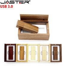 JASTER USB 3.0 LOGO personnalisé en bois usb + boîte clé usb clé USB clé usb 4GB 8GB 16GB 32GB 64GB U disque cadeau de mariage