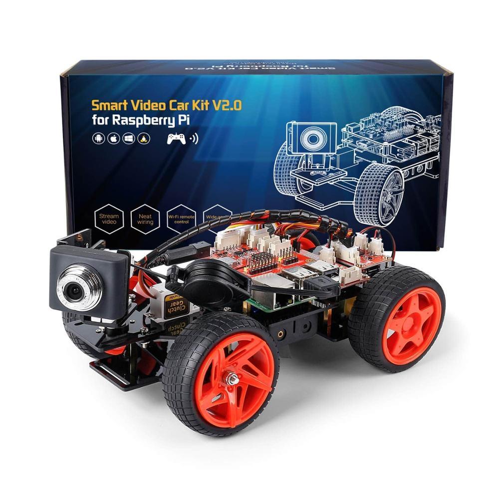 SunFounder App Remote Controlled Robot For Raspberry Pi Model 4B 3B+ B 2B Smart Video Car Kit V2.0 R