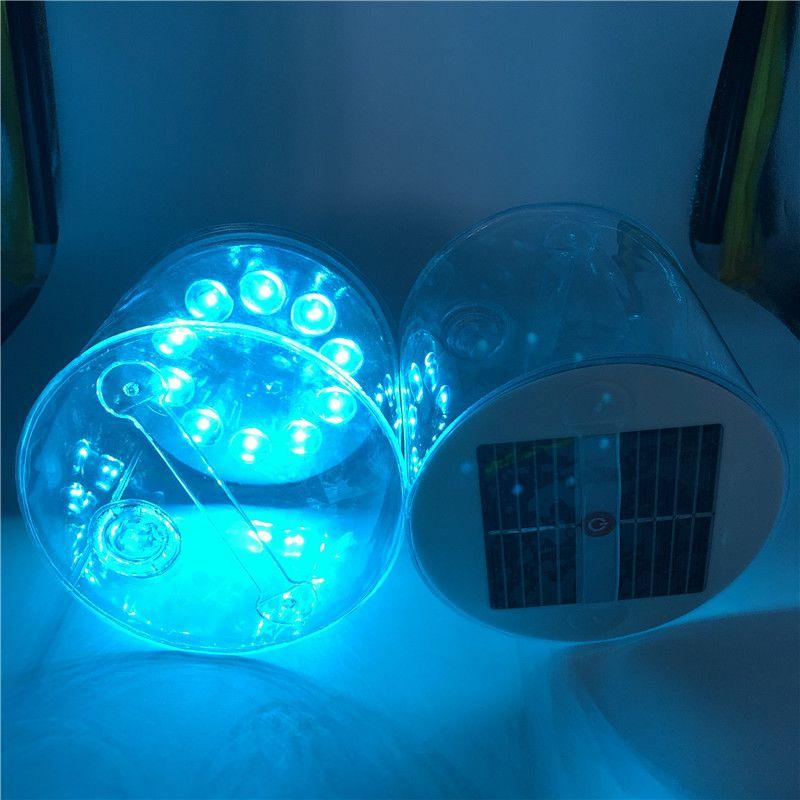 Lámpara Solar caliente LED Cylindrica, lámpara Solar hinchable l, luz de emergencia portátil para senderismo y Pesca