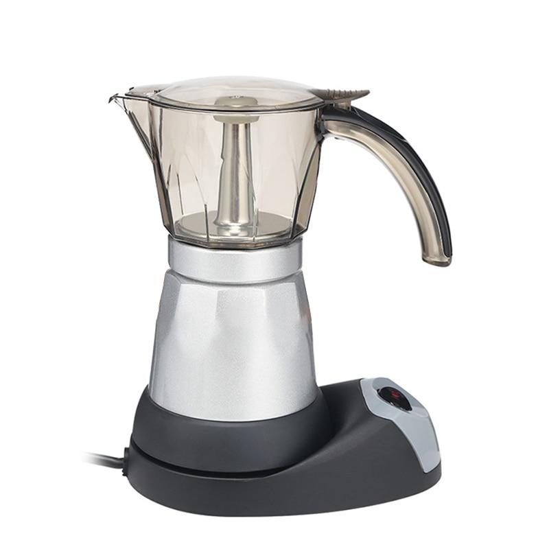 Máquina de café espresso elétrica 300ml portátil máquina café elétrica aço pote espresso cozinha em casa ferramenta plugue da ue