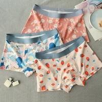 3 pieceslot fashion cartoon print men boxer cotton modal comfortable male underwear