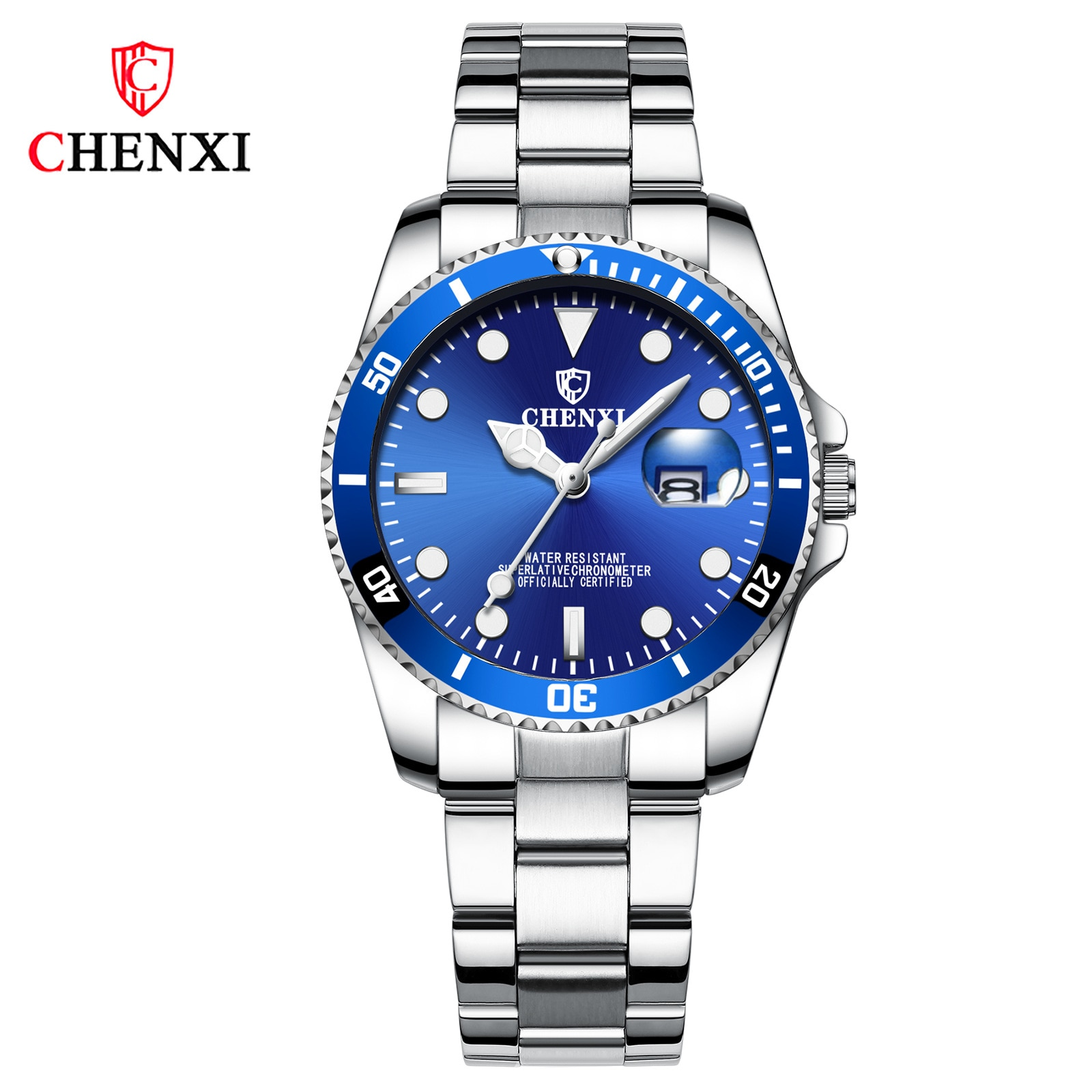 Reloj Mujer CHENXI Luxury Brand Women Watch Calendar Luminous Waterproof Exquisite Stainless Steel Ladies Quartz Wristwatch Gift enlarge