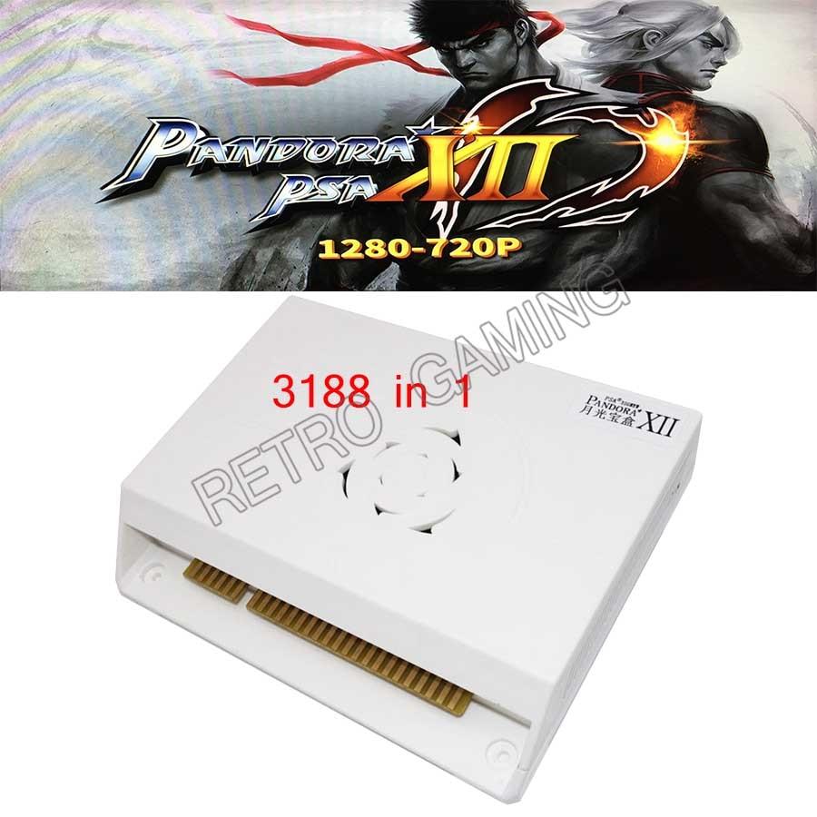 Pandora XII 3188 in 1 board 53pcs 3D Games Box 12 support 3/4P Jamma version Arcade Machine video gamepad set HDMI VGA 2620 in 1