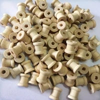 100 pieces wooden spools for arts and crafts %e2%80%93 bulk natural unfinished