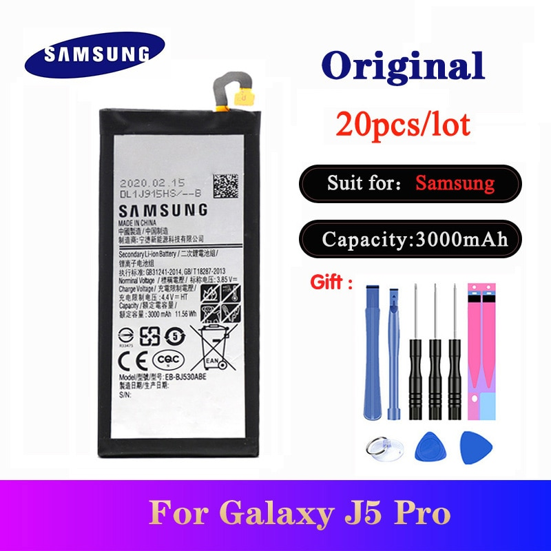 20pcs/lot Battery EB-BJ530ABE For Samsung Galaxy J5 Pro 2017 J530 SM-J530K /J530F /J530Y /J530G NEW Orgina bateria 3000mAh