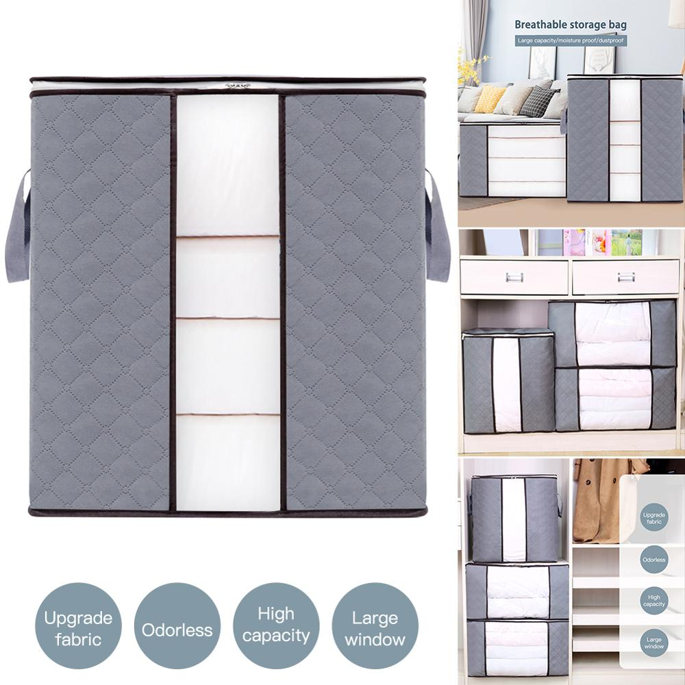2pcs Home Storage Foldable Bag New Waterproof Oxford Fabric Bedding Pillows Quilt Storage Bag Clothes Storage Bag Organizer