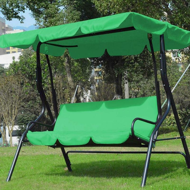 3 مقعد سوينغ الستائر وسادة مقعد مجموعة غطاء الباحة سوينغ كرسي أرجوحة استبدال مقاوم للماء حديقة FPing