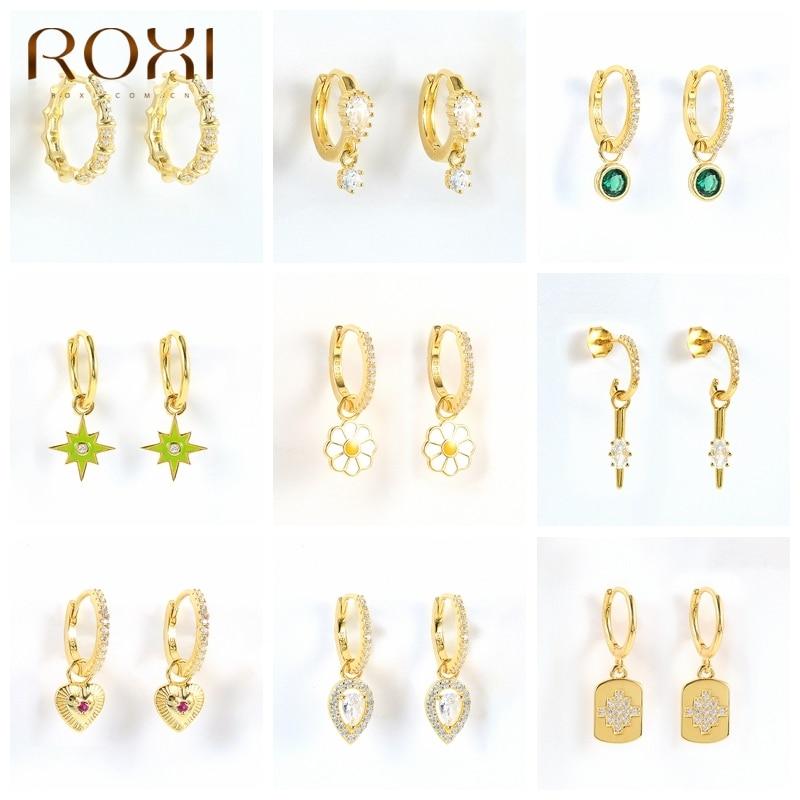roxi-геометрические-серьги-для-Для-женщин-925-Стерлингового-Серебра-huggie-ухо-пирсинг-кольцо-серьги-ювелирные-изделия-из-жемчуга-вечерние-подар