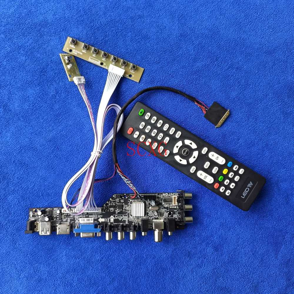 HDMI متوافق مع DVB VGA USB AV LVDS 40 دبوس LED/LCD إشارة رقمية ل BT156GW01/BT156GW02 عدة 1366*768 عرض لوحة تحكم