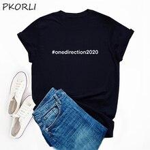 Harry Stijlen Tshirt Harajuku Vrouwen Zomer Een Richting 2020 T-shirt Zwart Katoen Zomer Inscripties T-shirts Roupas Feminina