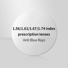 1.56 1.61 1.67 1.74 Index Prescription Lens Anti Blue Light Resin Aspheric Lenses Optical Myopia Hyperopia Presbyopia Lentes