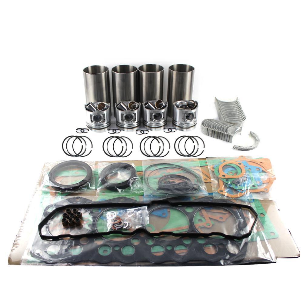 4JH1 4JH1TC محرك إعادة بناء عدة ل ايسوزو D-MAX قزم NKR77 بيك اب بيستونز بطانات تحمل مجموعات إصلاح المحرك مجموعات ربط السيراميك الارضي