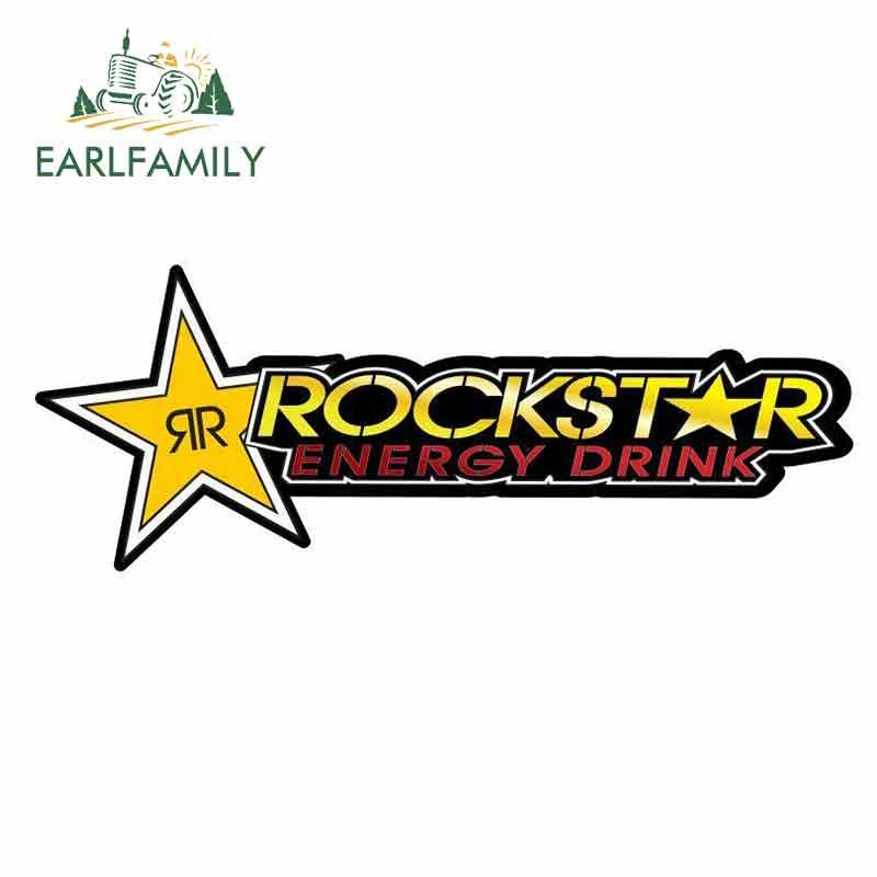 EARLFAMILY 13cm x 4,9 cm para el signo de Rockstar, pegatinas de dibujos animados para coche, protector solar de vinilo JDM, parachoques impermeable, pegatina de camión, maletero