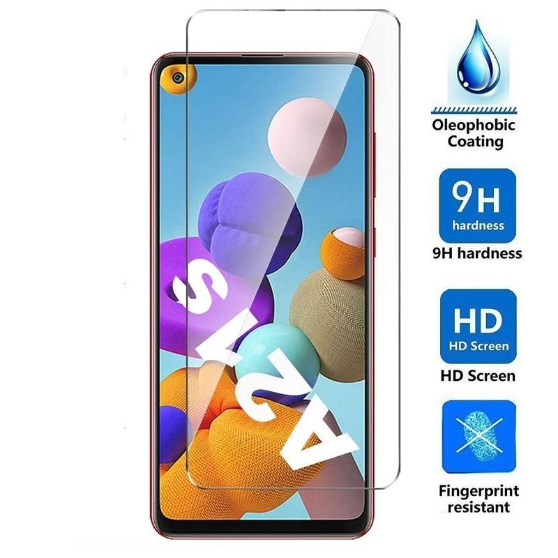 Vidrio templado para Samsung Galaxy A21s A21 Protector de pantalla para Samsung Galaxy A21s A21 película protectora de vidrio