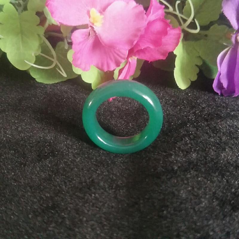 Anillo de Jade Natural verde púrpura Agata Jade joyería anillo auspicioso afortunado amuleto de seguridad para hombres y mujeres joyería fina anillo de Jade