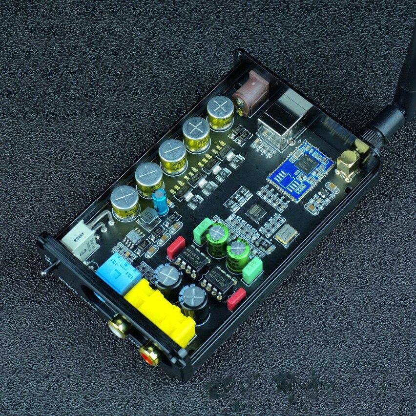 QS-1 ES9018K2M فك CSR8675 بلوتوث متوافق 5.0 ضياع استقبال محول USB كارت الصوت