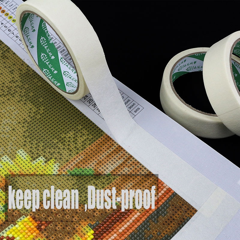 Diamante pintura Anti-sucio cinta adhesiva bordes pegatina herramientas DIY diamante accesorio bordado Diatom mud art sketch Tape