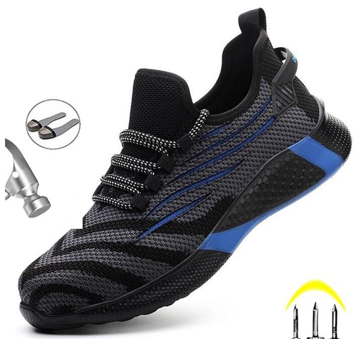 Sapatos de Trabalho Botas de Segurança Botas de Trabalho de Aço Sapatos de Dedo do pé Anti-smash Masculino Indestrutíveis Tênis Homens Anti-punctura Calçado
