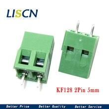 KF128 vert connexion PCB   20 pièces 5.08mm KF128 2 broches vert connexion PCB Terminal, connecteur de vis, connecteur dépissure