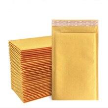 100pcs logistic kraft paper foam bag bubble envelopes
