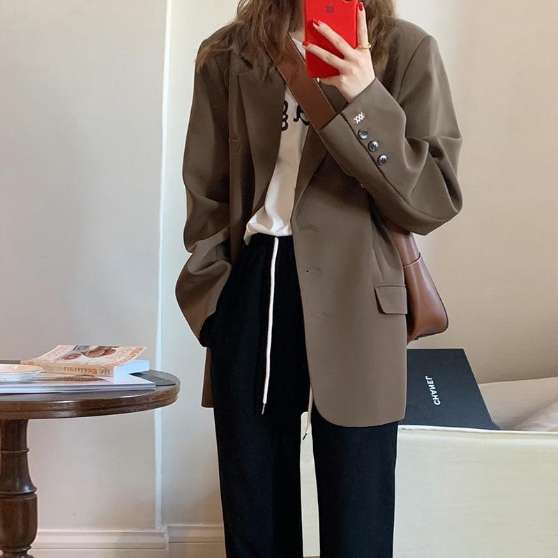 2021 Autumn Suit Coat Female Design Sense Of Minority Early Autumn Leisure Temperament Small Suit