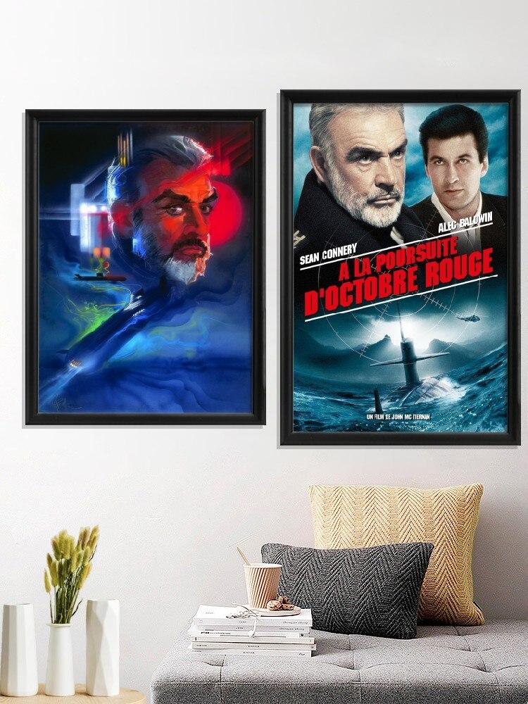Sean Connery-película The Hunt for Red October, póster de la Liga de...